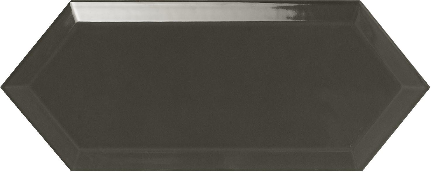 Obklad Cupidón Dark Grey Brillo Bisel, 10x30 cm, lesk s fazetou