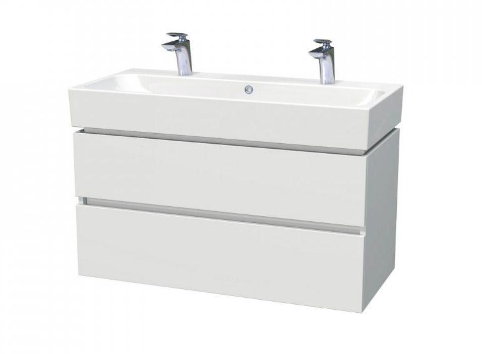 Skříňka s umyvadlem a se 2 zásuvkami 100x46,5x66 cm