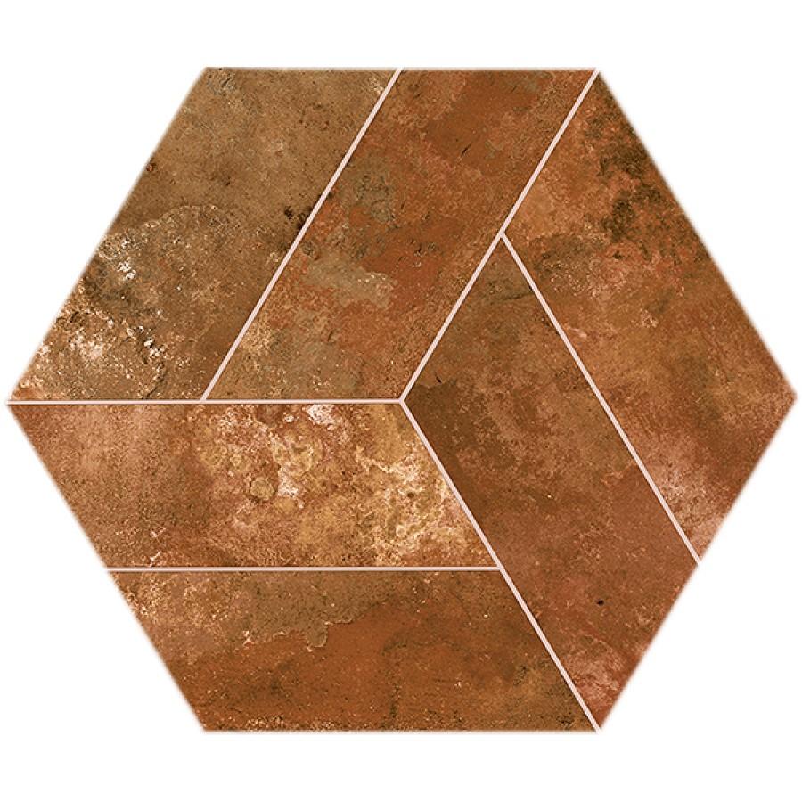 Dlažba Basalt Brown 20x24 cm, mat