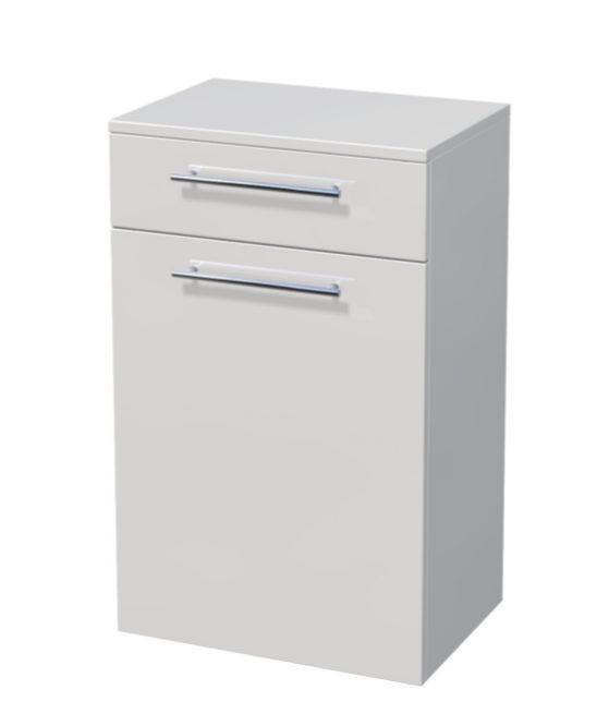 Nízká skříňka 1 dveře, 1 zásuvka, koš 50x35x81,8 cm
