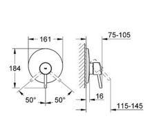 Sprchová podomítková baterie, chrom, nutno použít Rapido E G35501000, série Concetto New