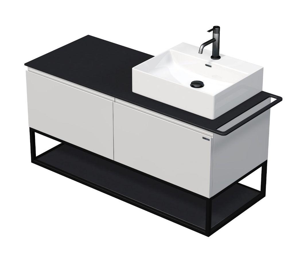 Skříňka 120x50,5x50 cm s umyvadlem 50x42x13 cm a se 2 zásuvkami