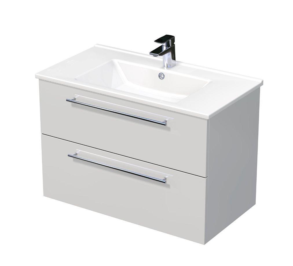 Skříňka s umyvadlem ARTE a se 2 zásuvkami 85x45x58 cm
