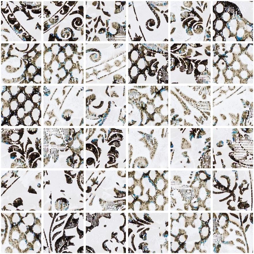 Obklad/dlažba Mosaico White 29,75x29,75 cm, pololesk