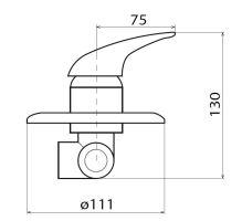 Sprchová podomítková baterie, chrom, série S-line