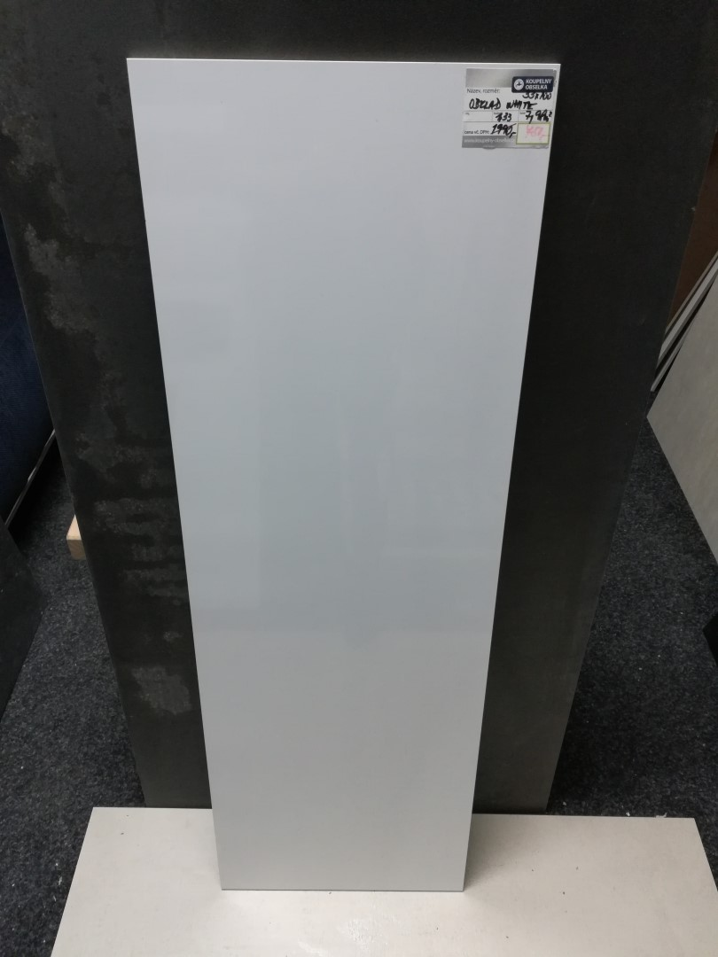 Obklad White 33,3x100cm, rectifikovaný