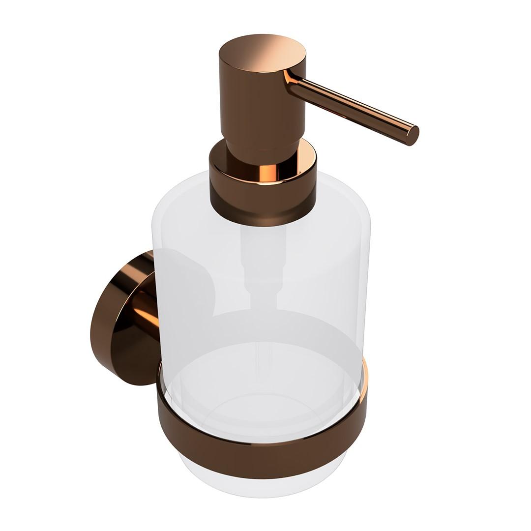 Dávkovač tekutého mýdla, skleněný, coffee-gold