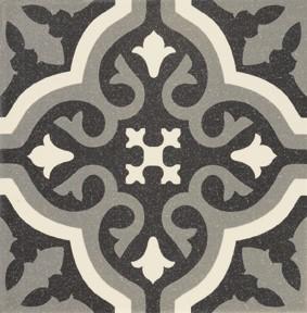 Obklad/dlažba Centro Black 20x20 cm, matt