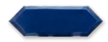 Obklad Cupidón Silver Imperial Blue Bisel 10x30 cm, lesklý s fazetou