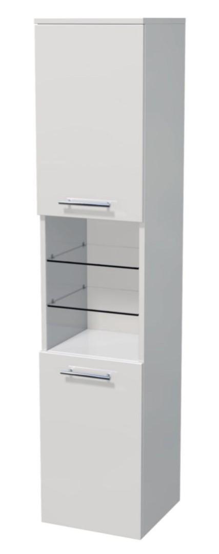 Vysoká skříňka 2 dveře, otevřená police 50x35x161,8 cm