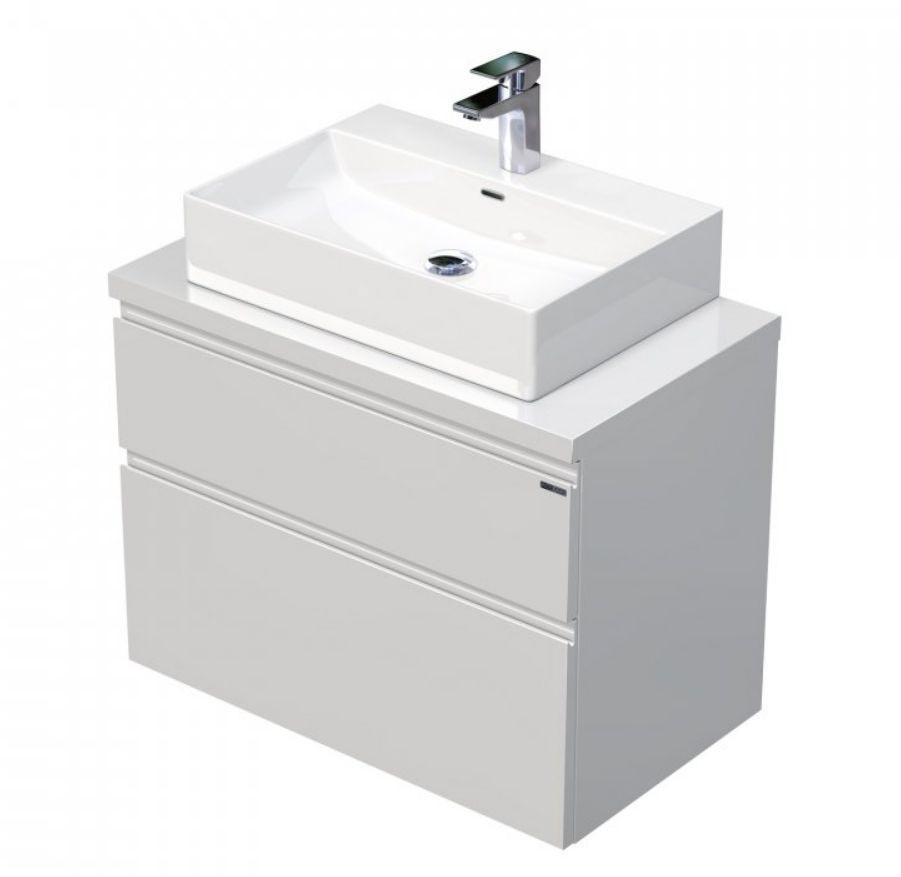 Skříňka 80x46x51,6 cm s umyvadlem na desku 60x42x13 cm a se 2 zásuvkami