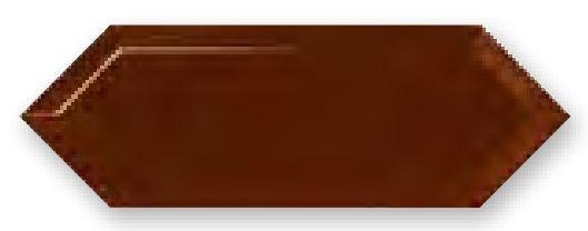 Obklad Cupidón Marron Brillo Bisel, 10x30 cm, lesk s fazetou