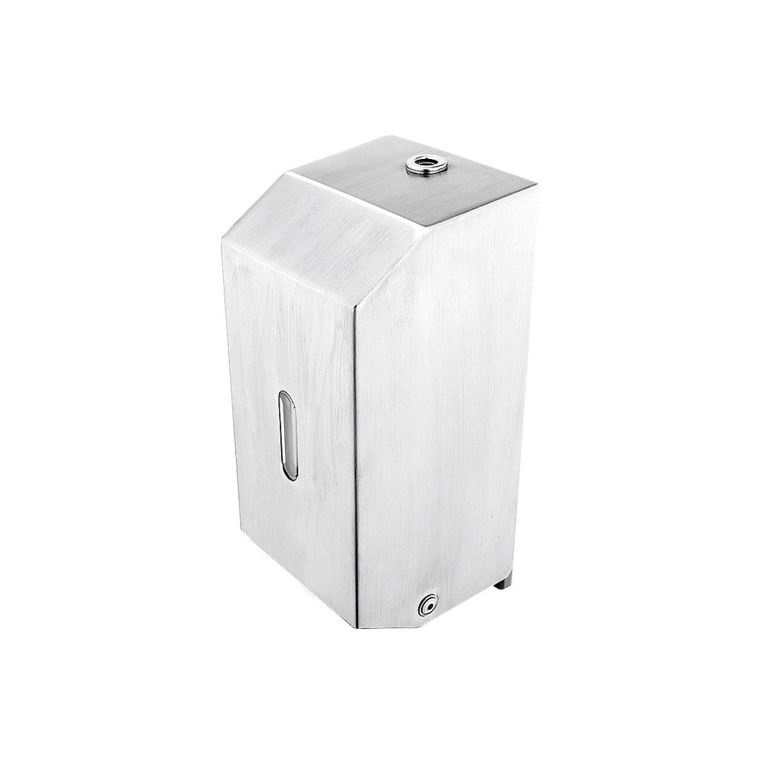 Zásobník na pěnové mýdlo vertikální, Broušená nerez 1,4301, Objem 800 ml