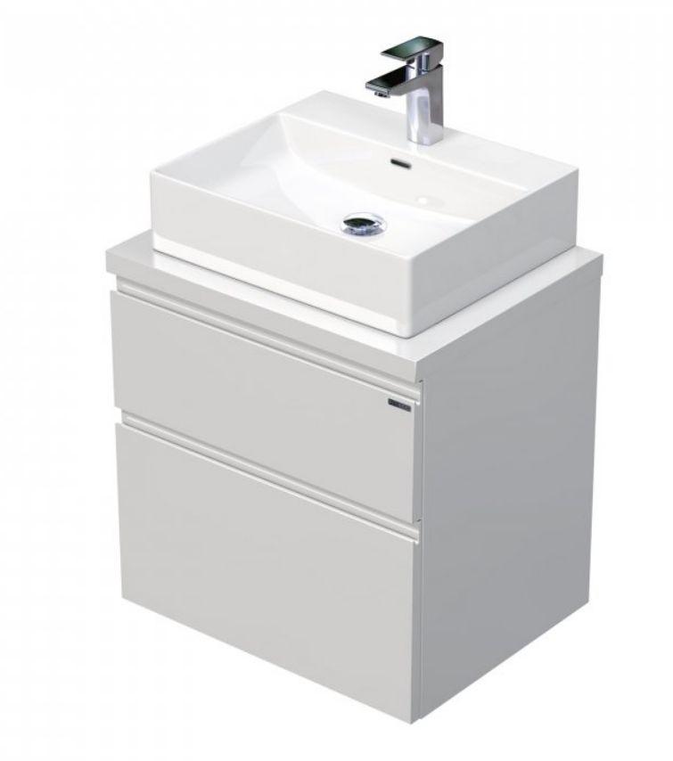 Skříňka 60x46x51,6 cm s umyvadlem na desku 50x42x13 cm a se 2 zásuvkami