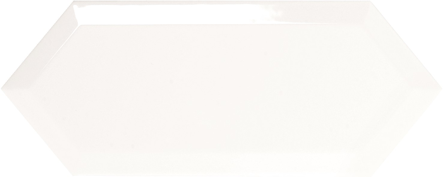 Obklad Cupidón Blanco Brillo Bisel, 10x30 cm, lesk s fazetou
