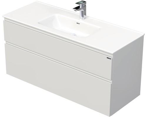 Skříňka s umyvadlem a se 2 zásuvkami, 121x46x59,5 cm