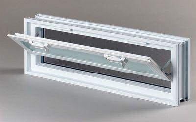 Plastové větrací okno, 57x19cm, tloušťka 8cm