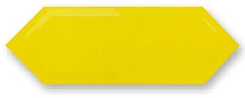Obklad Cupidón Limon Brillo Bisel, 10x30 cm, lesk s fazetou
