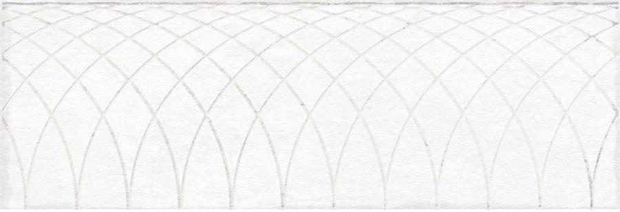 Obklad Mayestic White Decor 10x30 cm, lesklý
