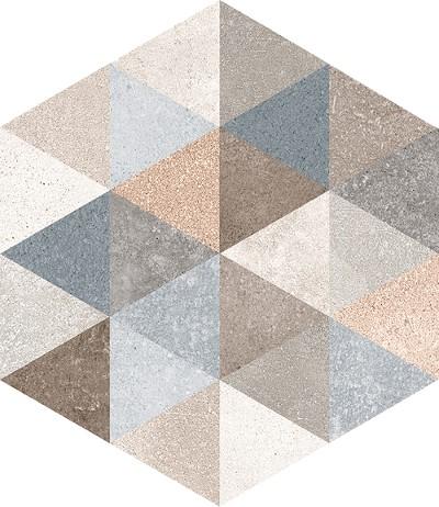 Dlažba Hexagono Fingal, 23x26,6cm, série Rift