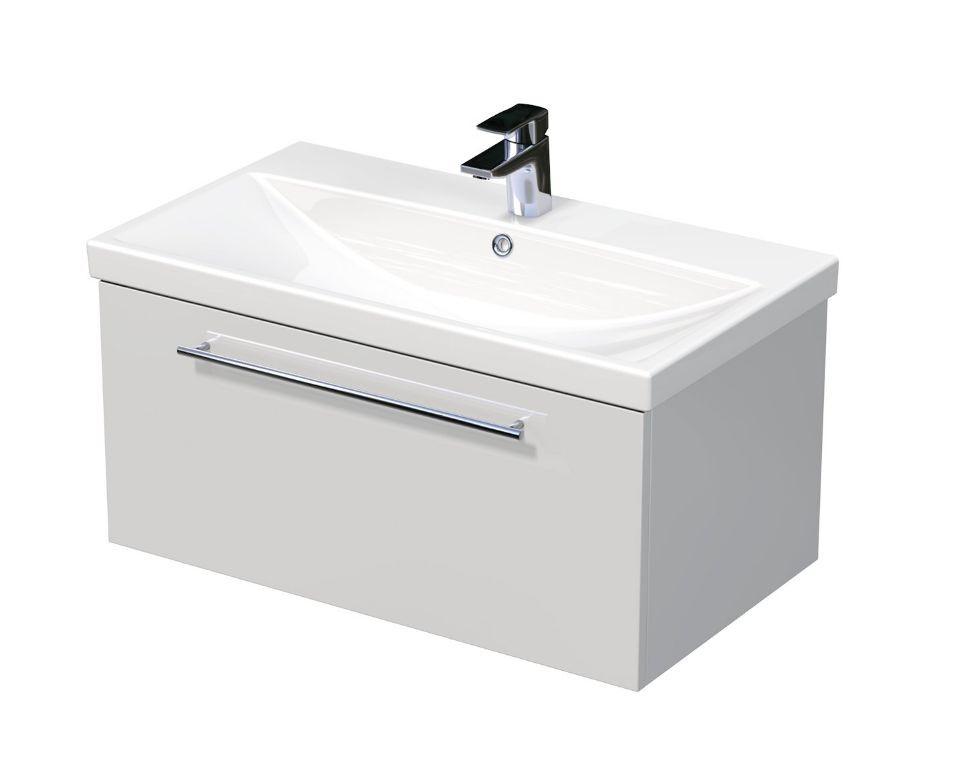 Skříňka s umyvadlem ELITE a s 1 zásuvkou 80x45x41 cm