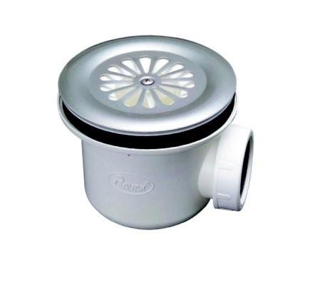 Vaničkový sifon Basic, průměr 90mm, odtok 30 litrů za minutu, víko nerez, série DN90