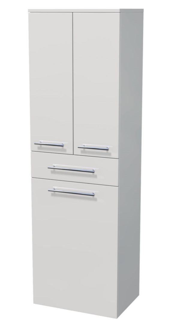 Vysoká skříňka 3 dveře, 1 zásuvka, koš 50x35x161,8 cm