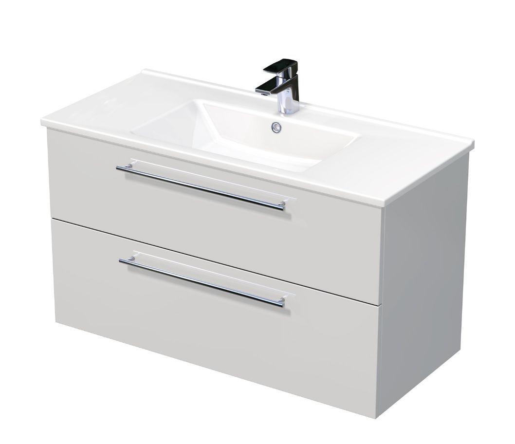 Skříňka s umyvadlem ARTE a se 2 zásuvkami 100x45x58 cm