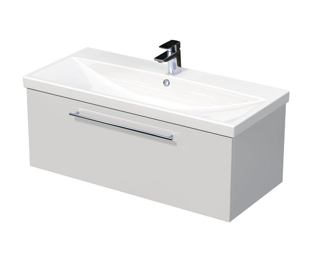 Skříňka s umyvadlem ELITE a s 1 zásuvkou 100x45x41 cm