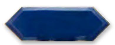 Obklad Cupidón Gold Imperial Blue Bisel 10x30 cm, lesklý s fazetou