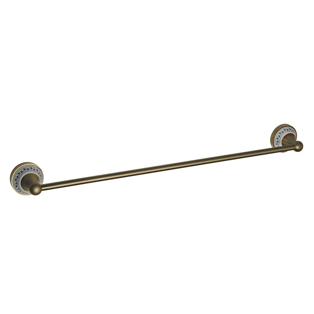 Držák na ručníky 60 cm, bronz