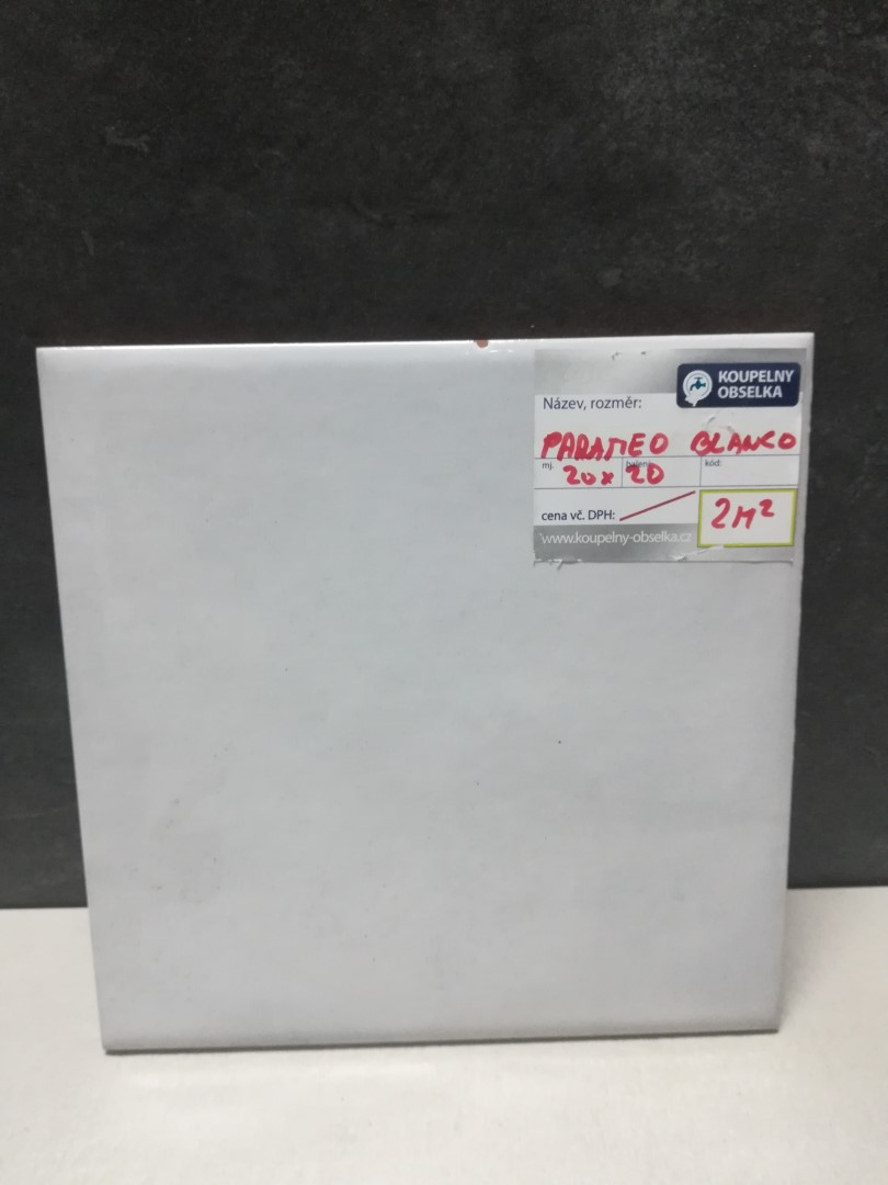 Obklad/dlažba Parameo Blanco 20x20 cm, mat