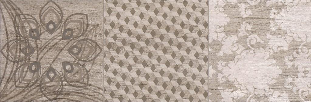 Dekor Taupe Noveau Mix A 20x60cm, mat