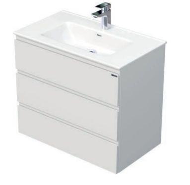 Skříňka s umyvadlem a se 3 zásuvkami, 81x46x70,5 cm