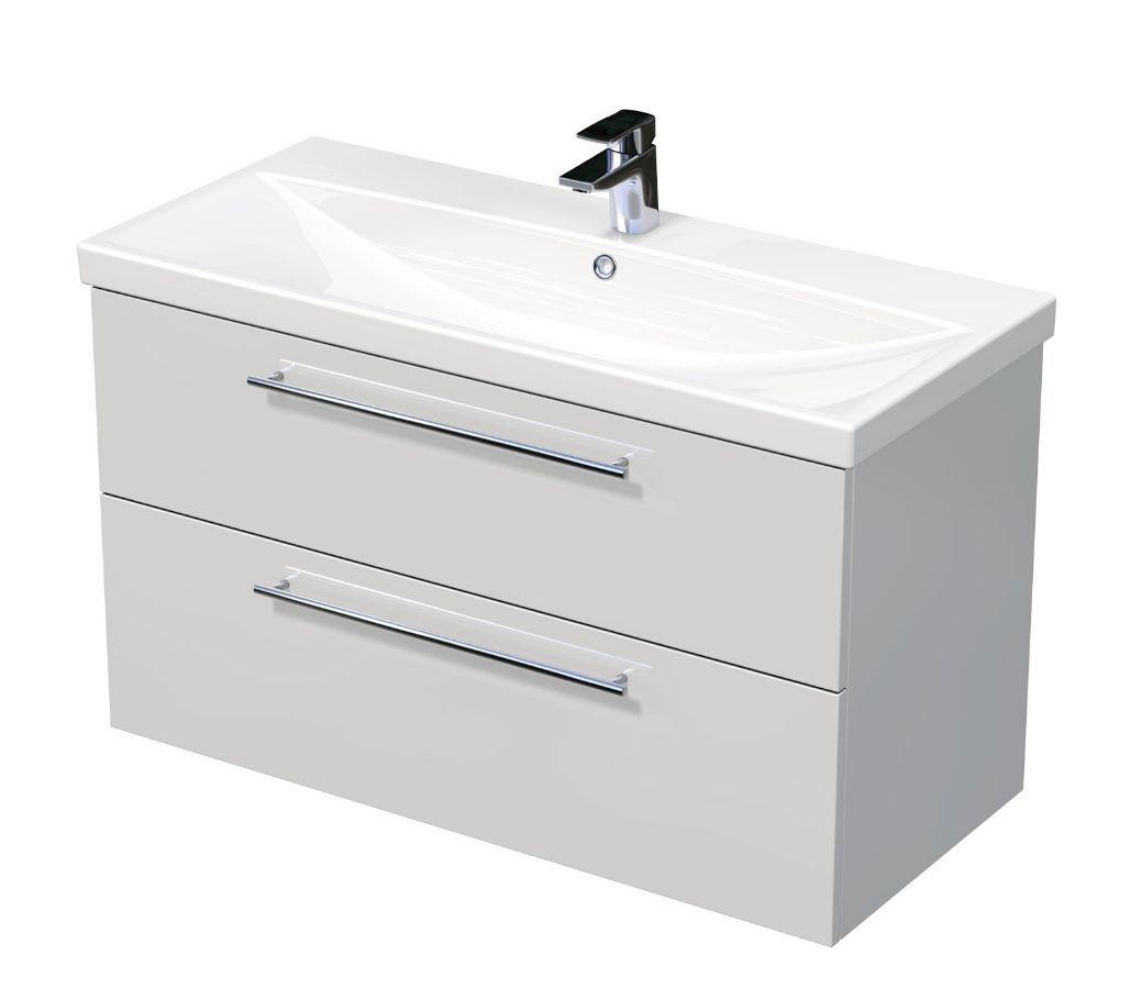 Skříňka s umyvadlem ELITE a se 2 zásuvkami 100x45x61 cm