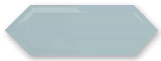 Obklad Cupidón Azul Cielo Brillo Bisel, 10x30 cm, lesk s fazetou