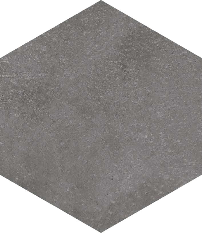 Dlažba Hexagono Grafito, 23x26,6cm, série Rift
