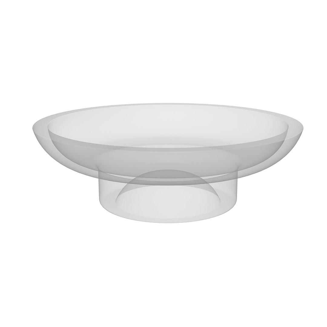 Náhradní miska na mýdlenku, mléčné sklo
