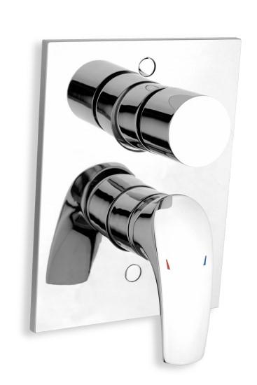 Vanová a sprchová podomítková baterie s přepínačem, chrom, série Metalia 57