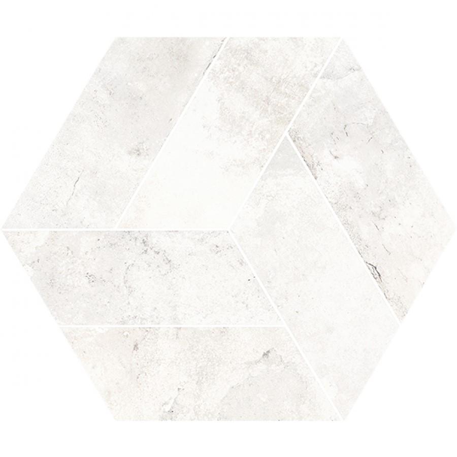 Dlažba Basalt White 20x24 cm, mat