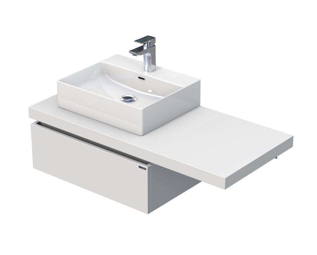 Skříňka s umyvadlem na desku 110,5x50,2x44,4 cm
