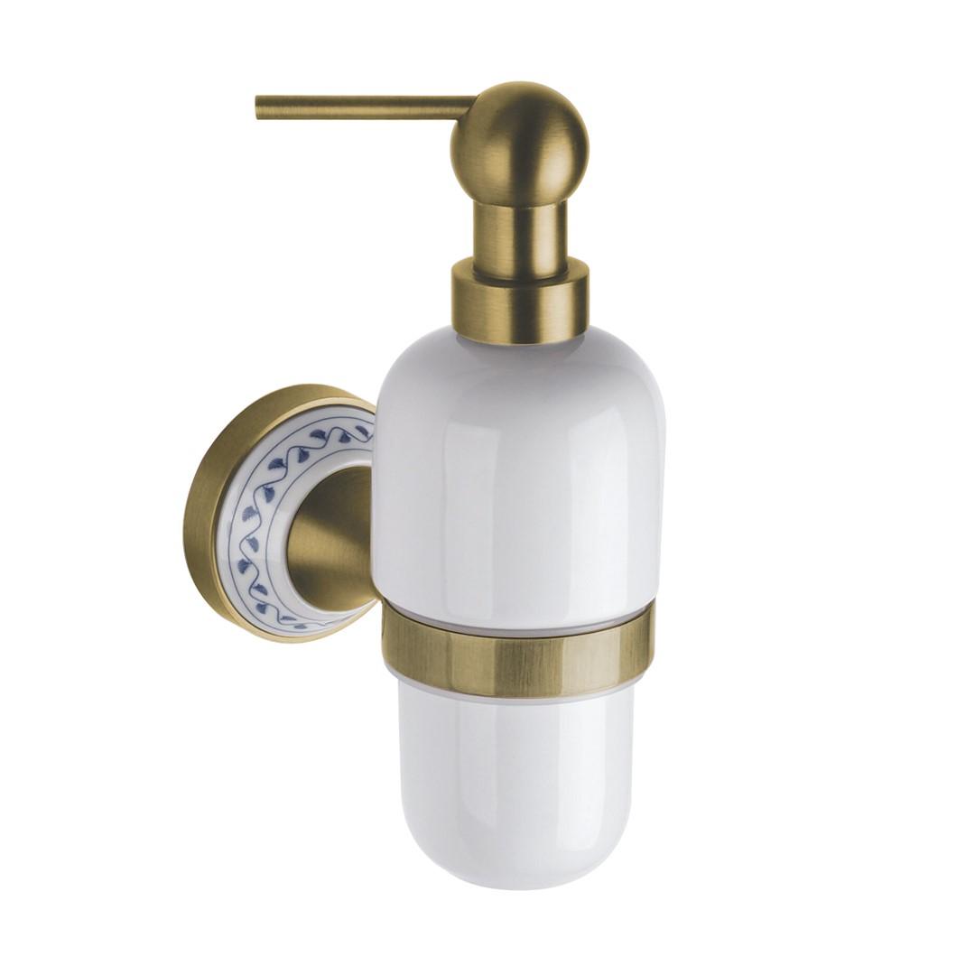 Dávkovač tekutého mýdla, keramika, bronz