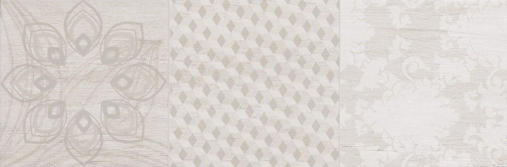 Dekor Grey Noveau Mix A 20x60cm, mix dekorů