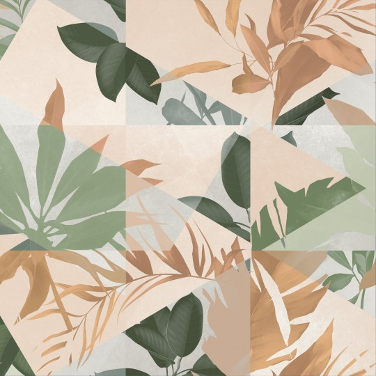 Obklad/dlažba Botanic Warm 14,7x14,7 cm, mat