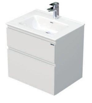 Skříňka s umyvadlem a se 2 zásuvkami, 61x46x59,5 cm