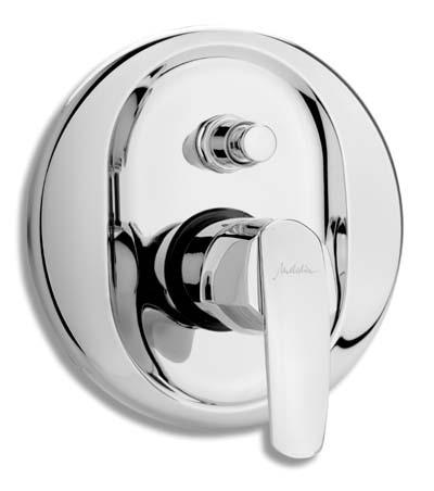 Vanová a sprchová podomítková baterie s přepínačem, chrom, série Metalia 56