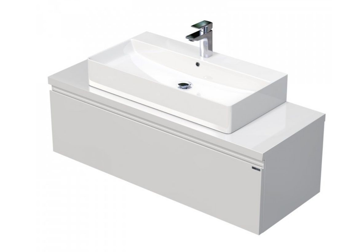 Skříňka 120x46x51,6 cm s umyvadlem na desku 80x42x13 cm a s 1 zásuvkou