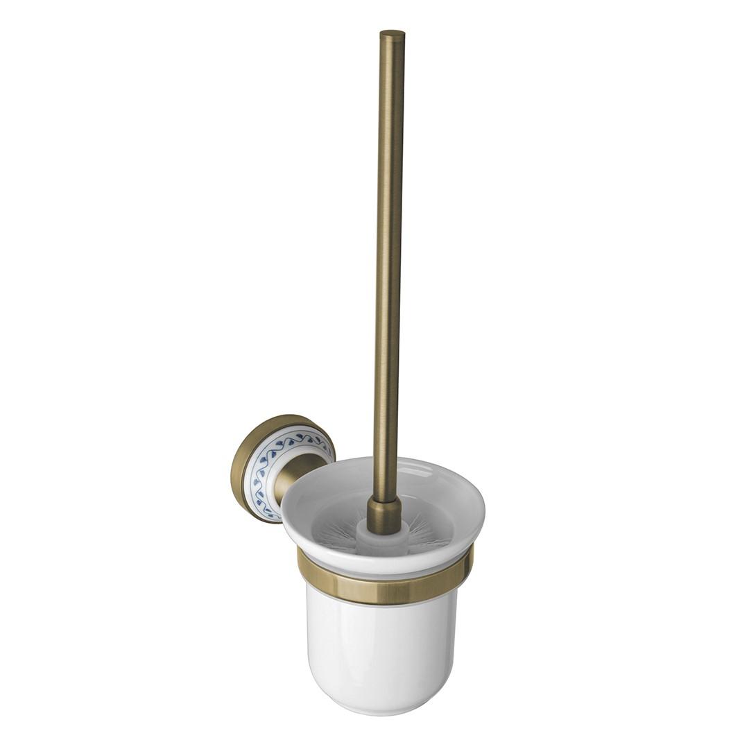 Toaletní WC štětka, keramika, bronz