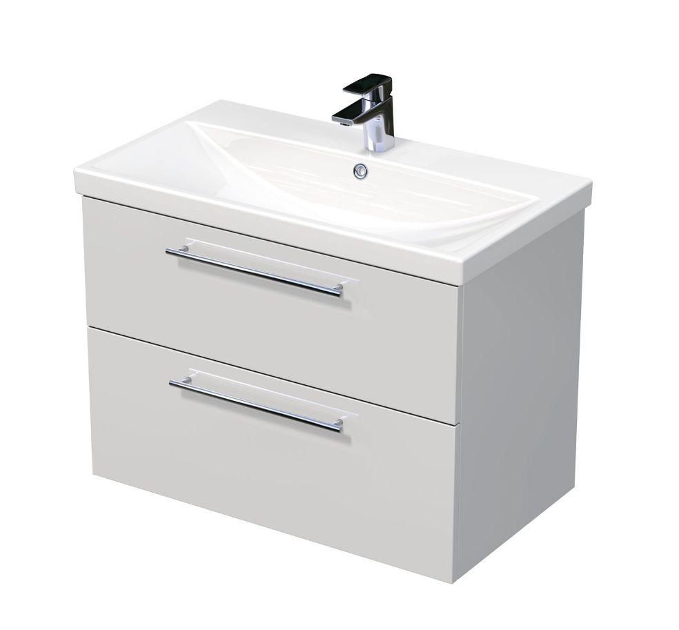 Skříňka s umyvadlem ELITE a se 2 zásuvkami 80x45x61 cm