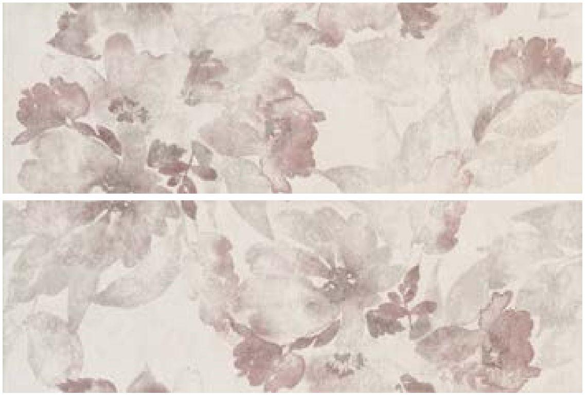 Dekor Aubergine Fiaba Prowall 25x75 cm, matný